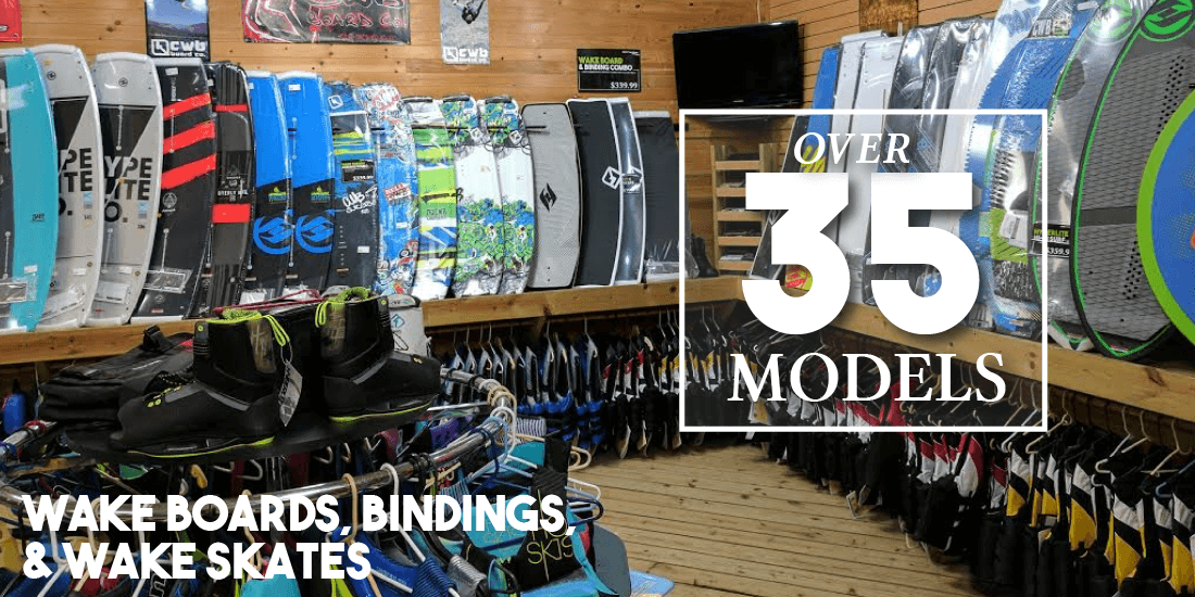 Wakeboards, Bindings & Wake Skates - Over 35 Models